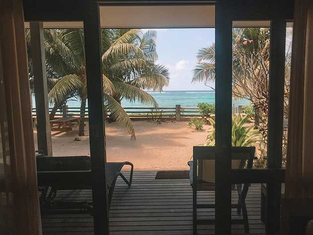 view from our accommodation in the Seychelles